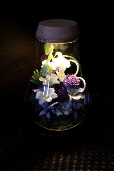 画像1: 送料無料【灯る仏花】蘭の庭(パープル)