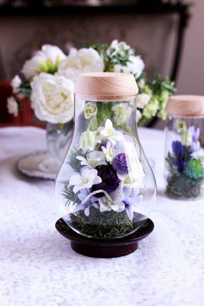 画像2: 送料無料【灯る仏花】蘭の庭(パープル)