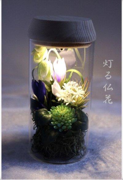 画像1: 送料無料【灯る仏花】りんどうの庭