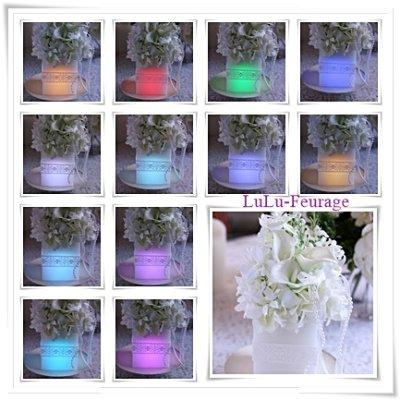 画像1: 【灯る仏花】虹シリーズ ホワイトカラー