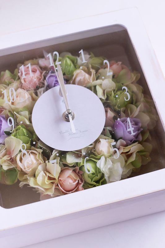 画像1: 【送料無料】花時計リース (1)
