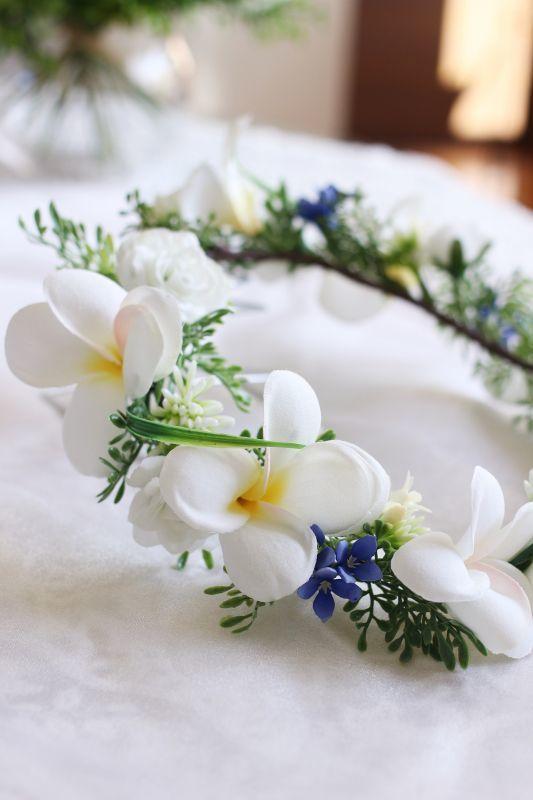 画像1: プルメリアの花冠 (1)